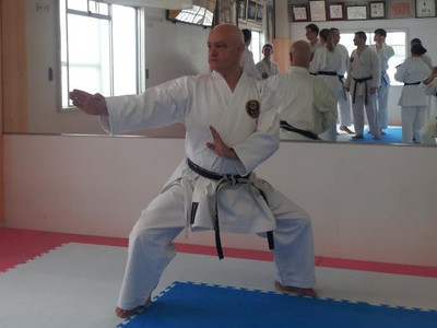 Tony doing kata